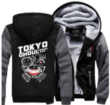Tokyo ghoul Hoodie Anime Ken Kaneki Mask Thick Coat Jacket Sweatshirt New Style Winter Casual brand fleece men long sleeve hoody
