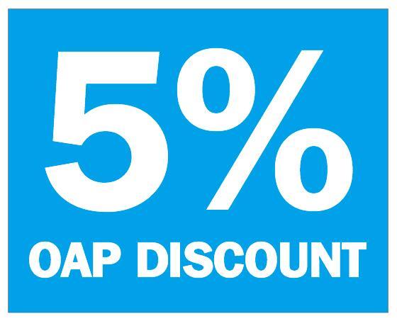 10x8 см 5% OAP скидка продажи клеящаяся рекламная этикетка, 1000 шт/партия, пункт № PD03