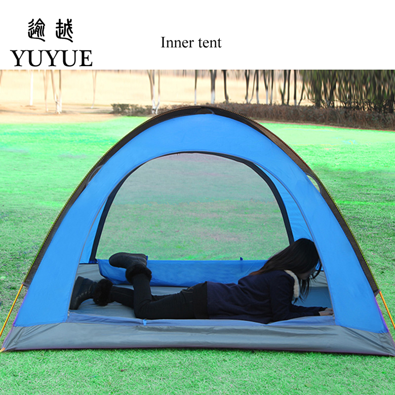 3-4 person waterproof tourist tent for hiking the tent camp Waterproof index 3000mm aluminium pole carpas de camping tente 2