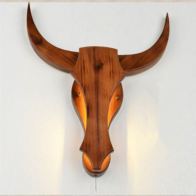 Nordic Post Modern Living Bed Room Simple Personality Originality  Restaurant Study Home Decor Wall Lamp Cow