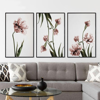 Nordic Home Decoration Posters Romantic Pink Flower Landscape Canvas Painting Hd Print Wall Art Picture For Living Room No Frame