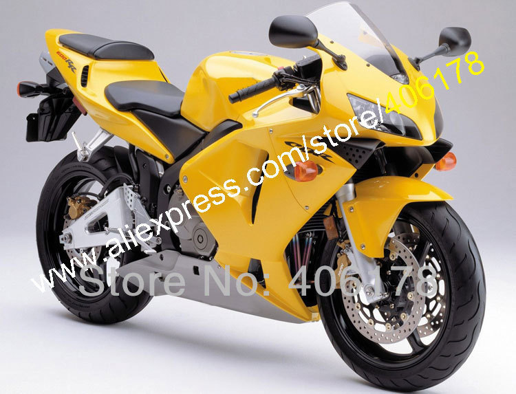 Hot Sales,injection fairings kit for HONDA CBR 600 RR 03 04 CBR600RR F5 2003 2004 yellow abs fairing (Injection molding) injection molded fairing kit for honda cbr600rr 03 04 cbr600 cbr600rr f5 2003 2004 top white black abs fairings set zq23