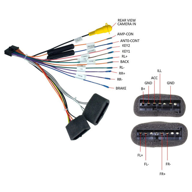 Car Radio Plug for Ford Transit Focus2 Harness Adapter Cable-in ...