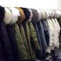 Женщины зимний куртка утка вниз теплое пальто Настоящее raccon большой меховой воротник капюшон черный длинный дизайн девушка теплый толстый куртка 2016 новый
