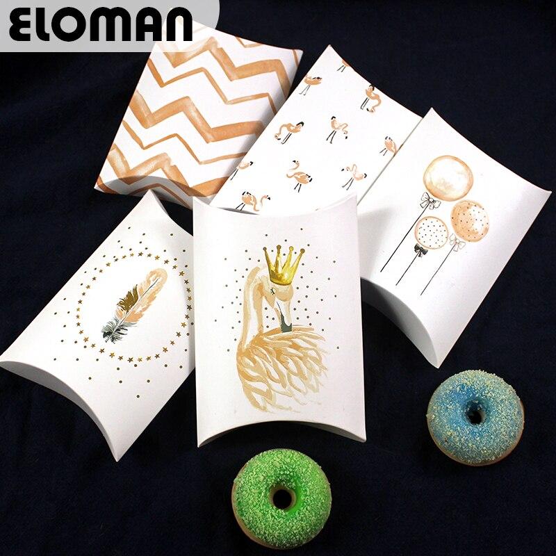 Подушка с фламинго, коробка для шоколада, конфет, печенья, Рождества, свадьбы, вечеринки, для детского душа, большая бумага, Подарочная подушка, упаковочные коробки
