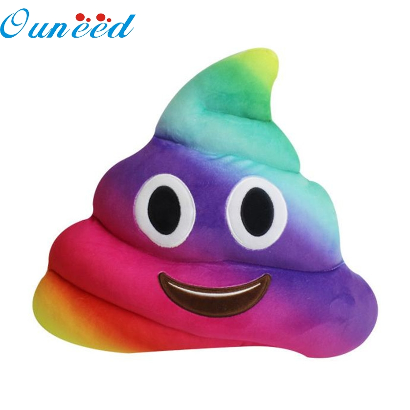Home Office Colorful Amusing Emoji Emoticon Cushion Heart Eyes Poo Shape Pillow Doll Toy Throw Gift 2AU14 ...