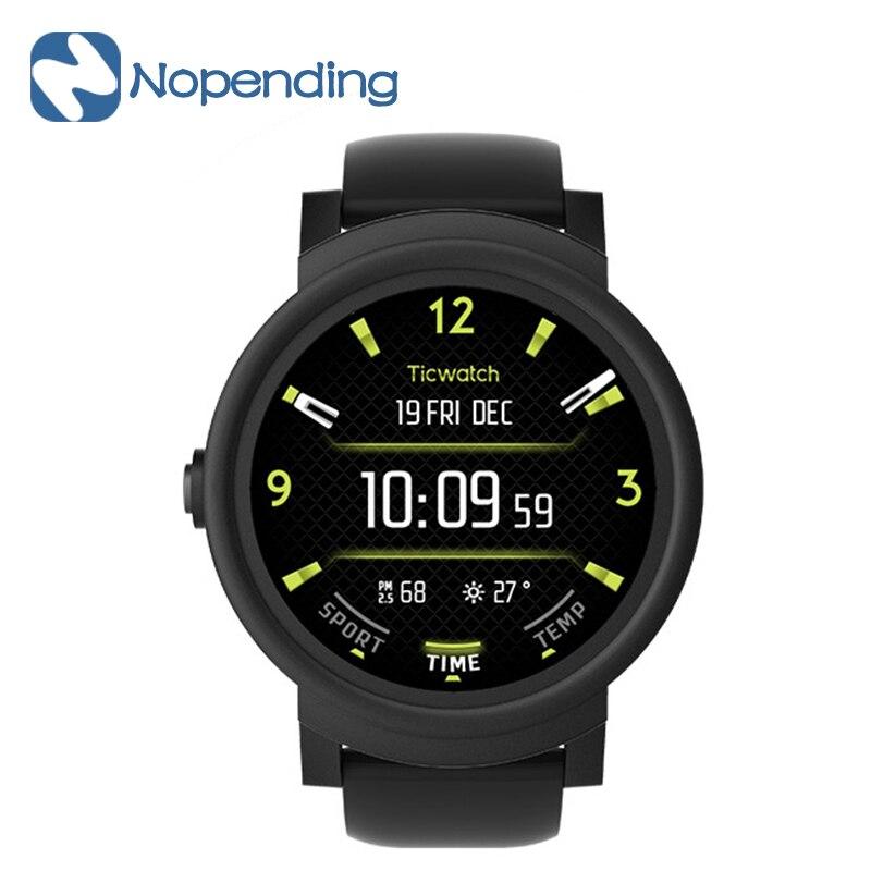 NEUE Original Ticwatch E Sport Smart Uhr Smartwatch Bluetooth WiFi 1,2 GHz MTK2601 GPS OLED Herzfrequenz Musik für Xiaomi IOS MI5