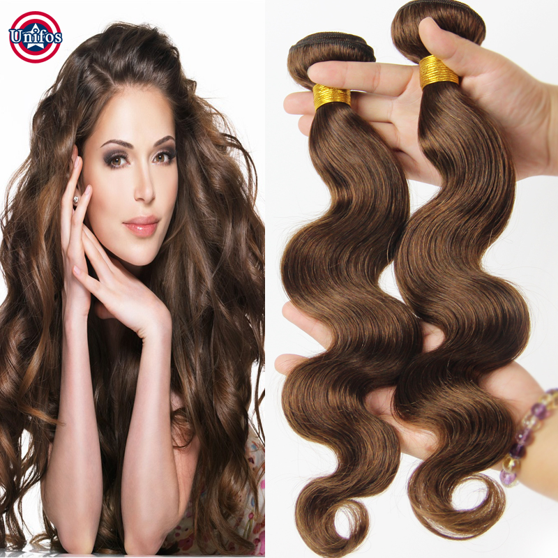 Malaysian Virgin Hair Body Wave 2 Pcs Color 4 Light Chocolate Brown