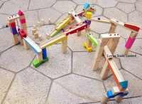 Nouveau jouet en bois grande piste boule labyrinthe jeu blocksBall diapositives blocs en bois bébé jouet cadeaux