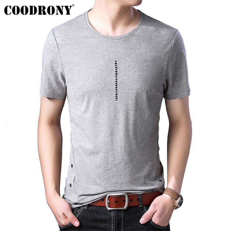 COODRONY Summer New Arrivals Short Sleeve T Shirt Men Streetwear Tshirt Fashion O Neck T Shirt Men Cotton Tee Shirt Homme S95140 in T Shirts from Men 39 s Clothing