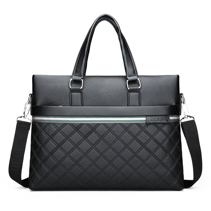 2019 New Luxury Men's Briefcase Pu Leather Male Business Briefcase Bag Shoulder Bags Men's Messenger Bag Tote Computer Handbag