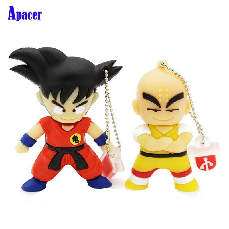 Apacer pen drive 4GB 8GB 32GB 64GB cartoon Dragon Ball Goku Kuririn pendrive 16gb usb flash drive все цены