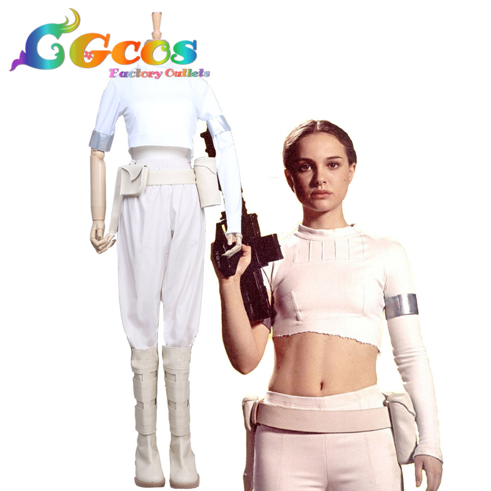 Free Shipping Cosplay Costume Star Wars:Episode II-Attack of the Clones Padme Naberrie Amidala Halloween Christmas Uniform image