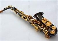 Victoria E-düz alto saksafon siyah nikel altın anahtar