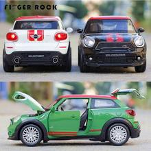 1:28 Mini Cooper Car Model Pull Back Diecast Metal Alloy Electronic Car Toy Boy Favorite Simulation Vehicles Juguetes