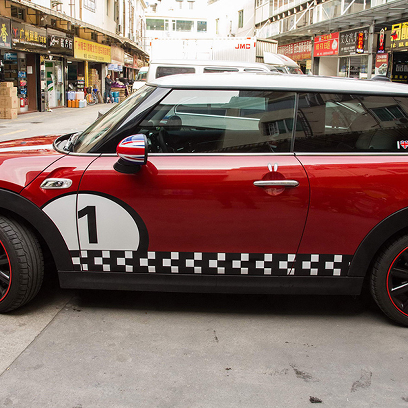 KK Vinyl Waist Line Car Door Side Sticker Auto Decal DIY Decoration for Mini Cooper Countryman Clubman Car-Styling Decoration aliauto car styling side door sticker and decals accessories for mini cooper countryman r50 r52 r53 r58 r56