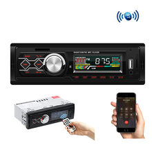Rádio do carro bluetooth 12 v modificado estilo retro fm mp3 player estéreo usb aux clássico handsfree chamadas de telefone 1 din(China)