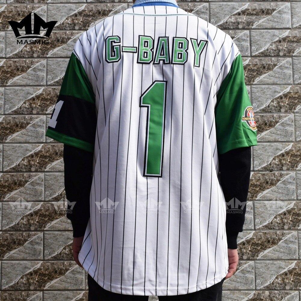 MM MASMIG Jarius G Baby Evans 1 Kekambas Baseball Jersey White S 3XL-in  Baseball ... 99c11378c