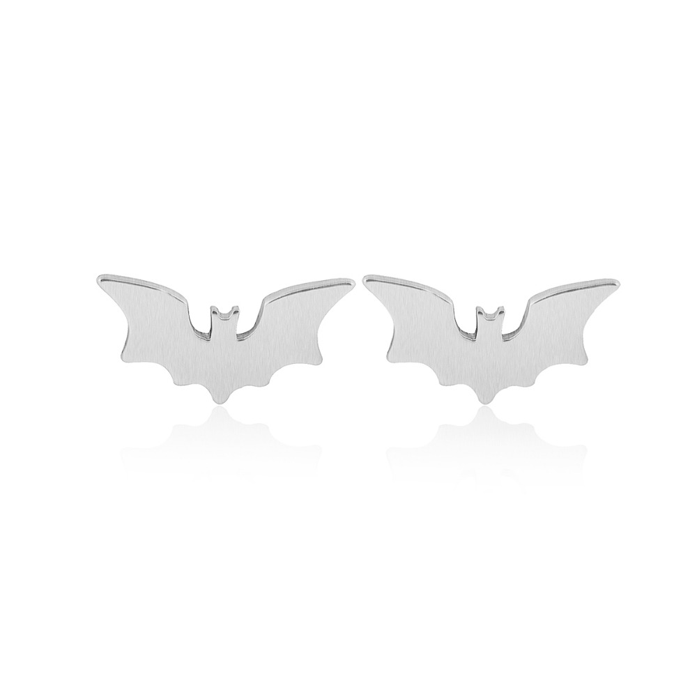 SMJEL New Fashion Hollow Bat Stud საყურეები - მოდის სამკაულები - ფოტო 5