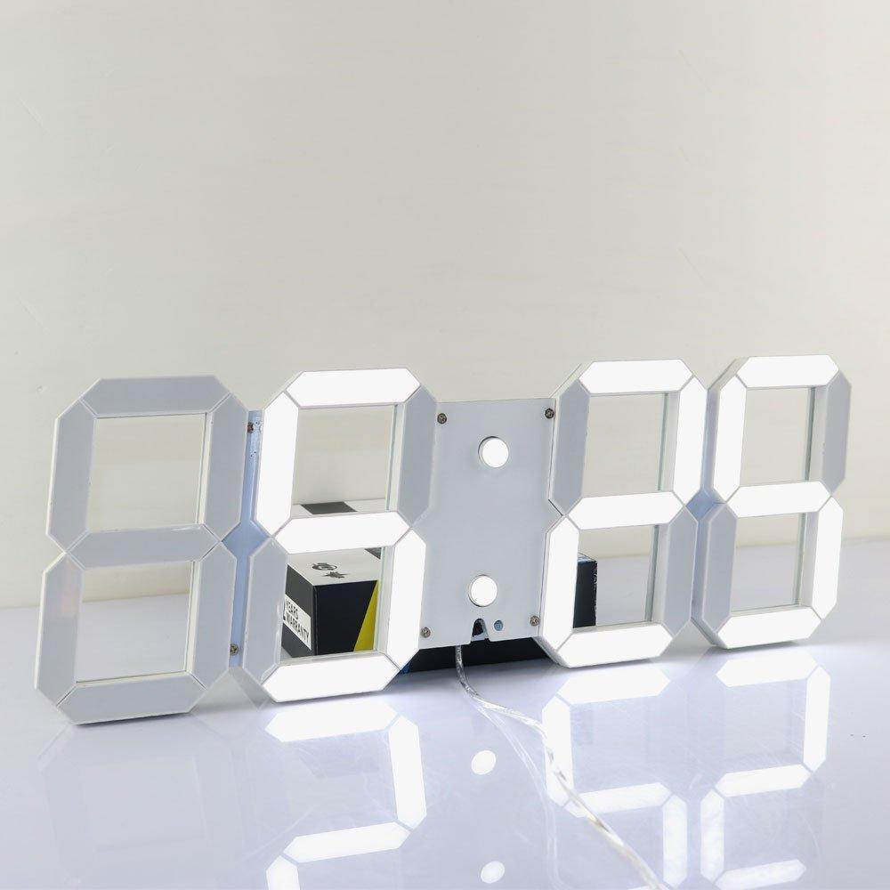 큰 현대 3d 디자인 디지털 led 벽시계 원격 제어와 24 또는 12 시간 디스플레이 알람 시계 시계-에서벽결이 시계부터 홈 & 가든 의  그룹 2