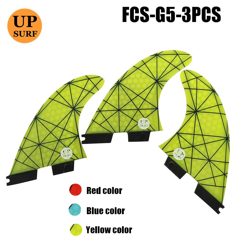 FCSII G5 M Size Tri Fin Set Surfboard Honeycomb Fins FCS 2 Fin Hot Sell FCS II Fin Quilhas