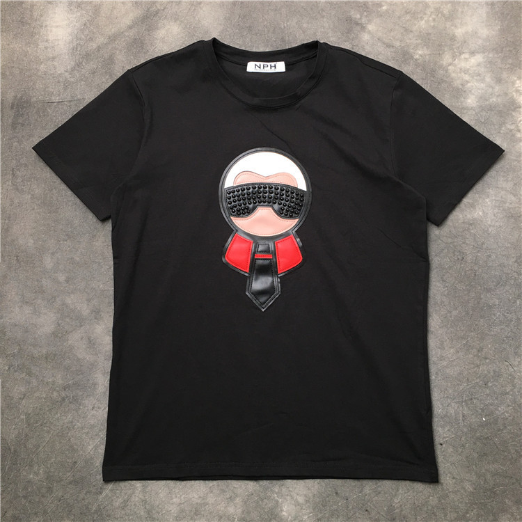 New 2019 parkour Punk Fashion T Shirts Leather beaded Doll T Shirt Hip Hop Skateboard Street Cotton T Shirts Tee Top #G55