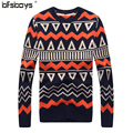2016 New arrival  Fashion  high  quality  winter autumn jacquard stripes Sweater Men's O-Neck Long Sleeve   608A-T939
