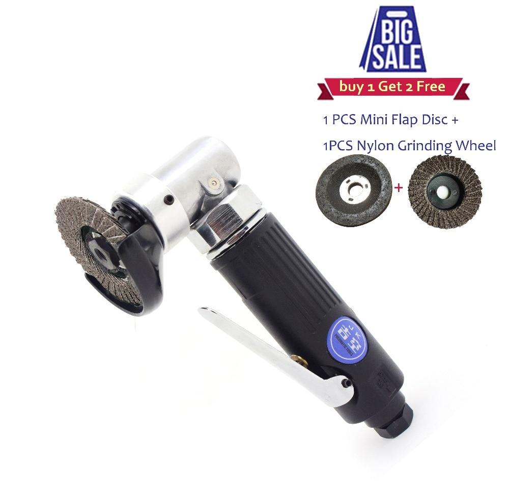 цена на Pneumatic Tools Air tools 2 inch 50mm Mini Angle Grinder Flip Grinding Disc Sander Grinding Wheel Polisher Cutting Tool