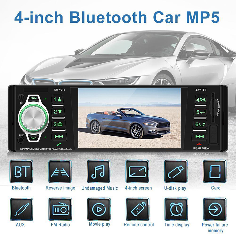 Hifi-geräte 4018 7 Zoll Mp5 2 Din Universal Bluetooth Mp5 Player Mp3 Karte Maschine Radio Rückansicht Für Android Gps Navigation Wifi Am/fm