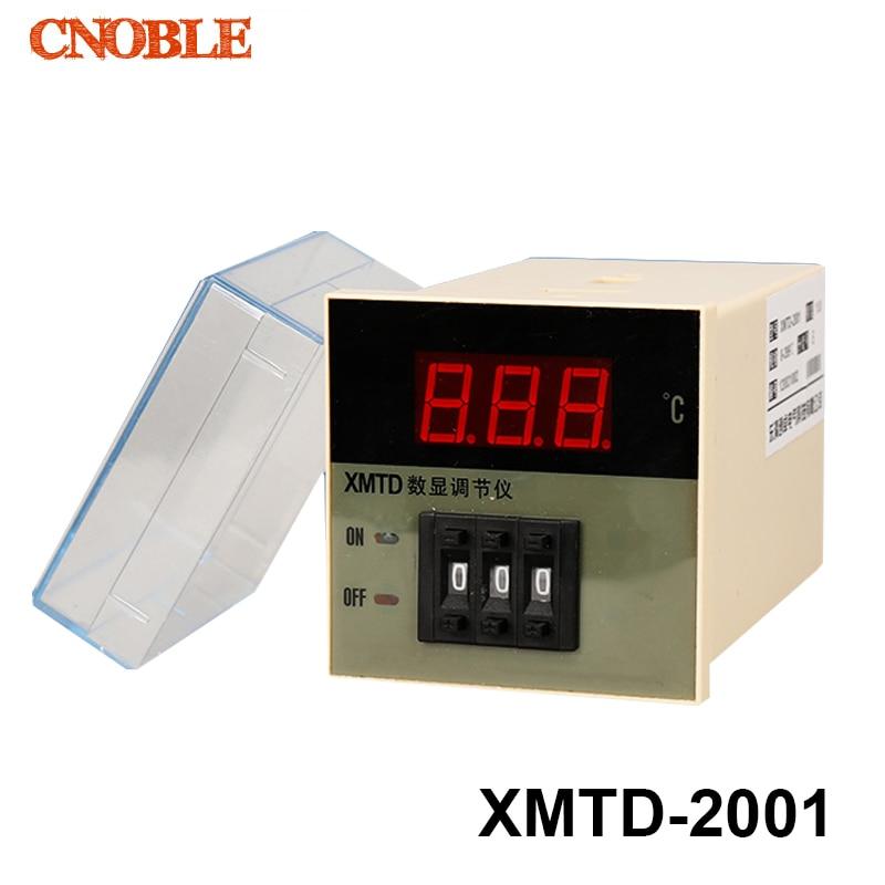 Free Shipping Digital Temperature Controller XMTD 2001 220VAC 380V 0 399 Centigrade Temperature Thermostat