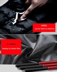 Image 5 - LOMAIYI USB isıtmalı yelek erkek kolsuz ceket erkek sıcak kendini ısıtma yelekler erkekler kış aşağı yastıklı yelek erkek siyah ceket AM356