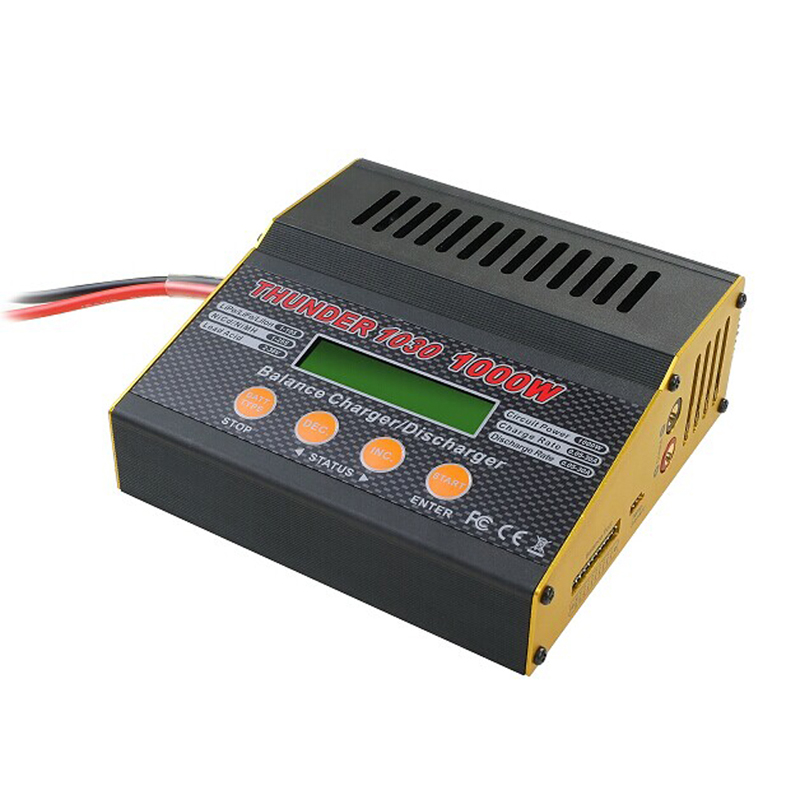 Thunder 1030 balance lipo charger 1-10S 1000W 30A Multifunctional RC balance battery charger discharger for Nicd/Mh/ lipo/Life thunder 0620 balance lipo charger 20a 2 6s 300w multifunctional intelligent balance charger usb pc link charger free shipping