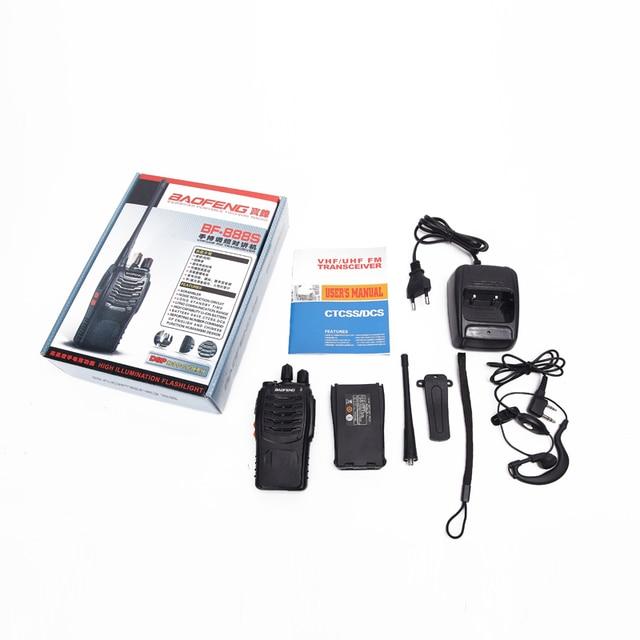 Baofeng bf-888s walkie talkie bf 888s 5w two-way radio portable cb radio uhf 400-470mhz 16ch professional handy radio