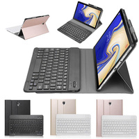 High quality Detachable Wireless Bluetooth Keyboard Case With a pen holder For Samsung Galaxy Tab S4 10.5 T830 T835 T837
