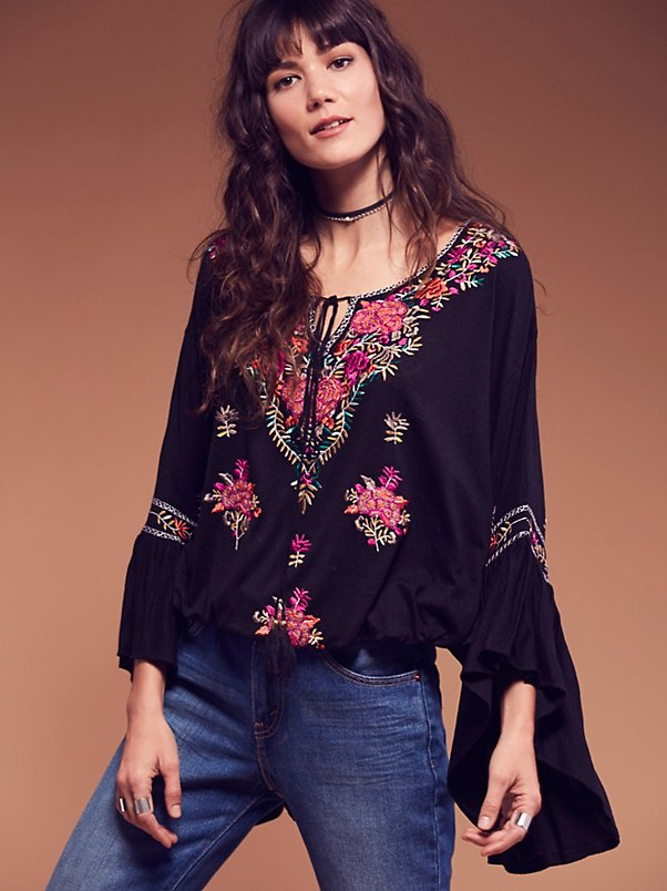 hippie flare embroidery discount 11