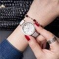 2016 de cuero de Moda Reloj de Pulsera Reloj de Las Mujeres Señoras de la Marca de Lujo Famoso Reloj de Cuarzo Mujer Reloj Relogio Feminino Montre Femme