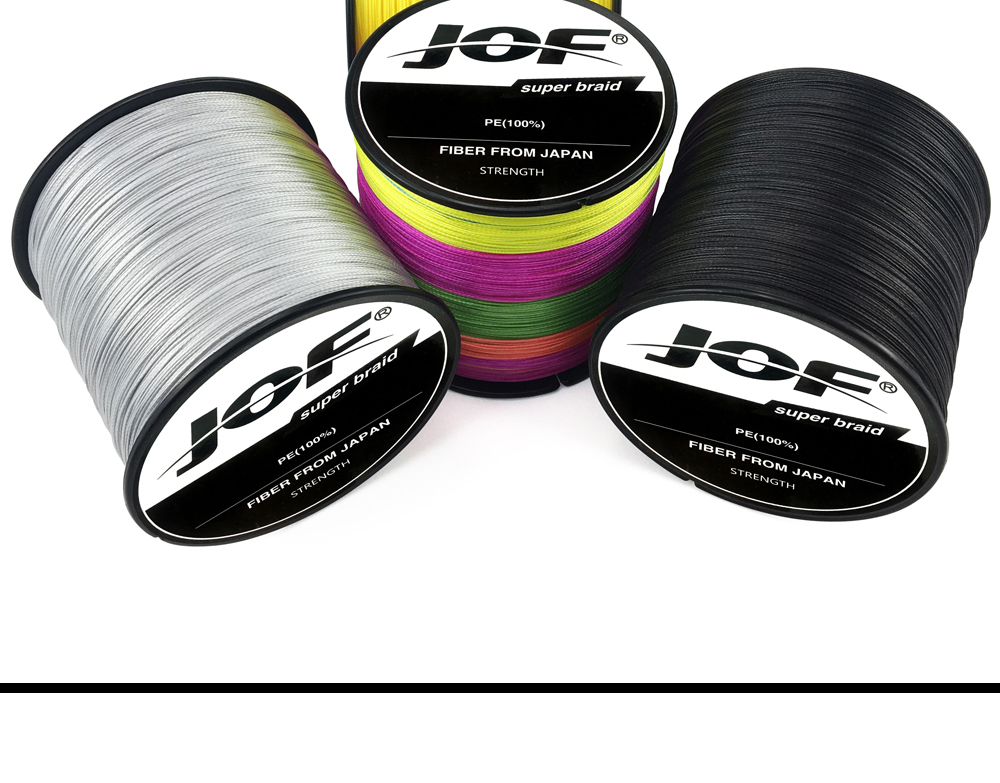 Multicolor 8 Strands 300M 500M 1000M PE Braid Fishing Line Sea Saltwater Fishing Weave 100% SuperPower JOF 24