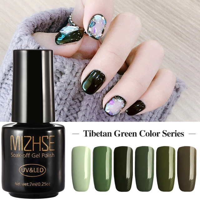 MIZHSE UV Gel Nail Polish Gel Varnishes Set For Gel Varnish Rubber ...