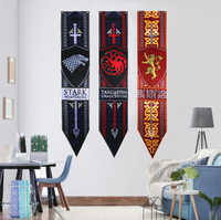 Game Of Thrones Banner Flag House Stark Targaryen Lannister Hanging Banner Fans Gift Home Decoration Flag Banner 34*168cm
