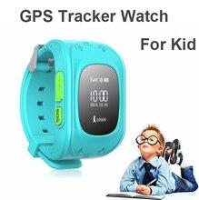 2016 Teléfono Inteligente GPS Reloj Niños Kid Reloj Q50 GSM GPS Localizador Rastreador Anti-perdida Smartwatch Niño Guardia Para iOS Android