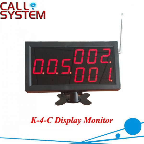 Wireless Call System Display K-4-C for restaurant services 3 digits number screen restaurant kitchen call system k 999 302 with 1 pcs keypad and 1 pcs display showing 2 digit number