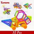 Mini Brinquedo Modelo de Construção Magnética Brinquedos Do Miúdo 32 Pçs/lote Semelhante Blocos de Aprendizado & Educação Crianças Brinquedo Bloco de Tijolo Bloco Ímã
