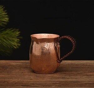 Image 4 - FeiC handmade puro rame caffè tea set Greco Turco Arabo Caffè Pentola con manico in legno per il Caffè Ibrik per barista