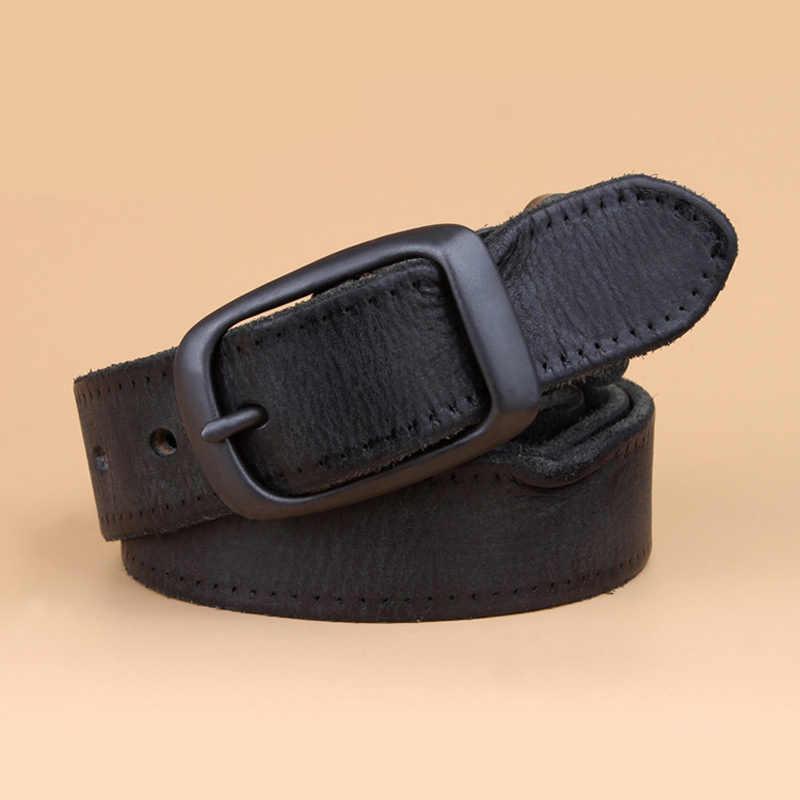 יוניסקס חדש יוקרה באיכות גבוהה מעצב חגורות הקדמונים שחור קפה עור אמיתי חגורות לגברים ונשים מותניים חגורת מהיר ספינה