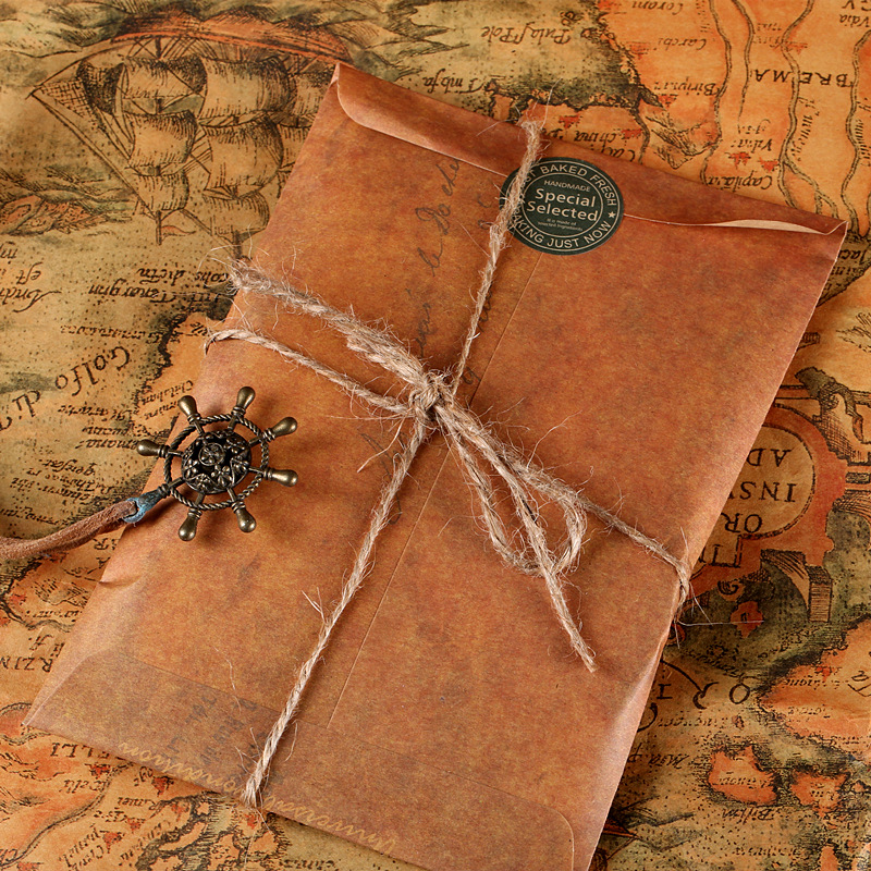 5 Pcs/lot Creative Vintage Kraft Paper Envelope European Style For Postcard Letter Paper Stationery Gift Office School Supplies