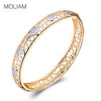 MOLIAM clásico Vintage brazaletes indios para las mujeres alta calidad cúbicos Zirconia cristal pulsera de la marca de moda 2018 MLZ036
