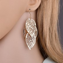 6 pairs of pearl earrings set fashion hollow leaves woven ladies jewelry Support a generation