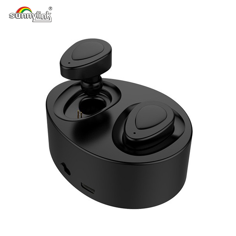 SUNNYLINK K2 TWS SUPER MINI WIRELESS BLUETOOTH EARPHONE BLUETOOTH 4.1. V TWINS HEADSET HIFI HANDS FREE EARBUD WITH CHARGE BOX sunnylink x7 wireless bluetooth earphone