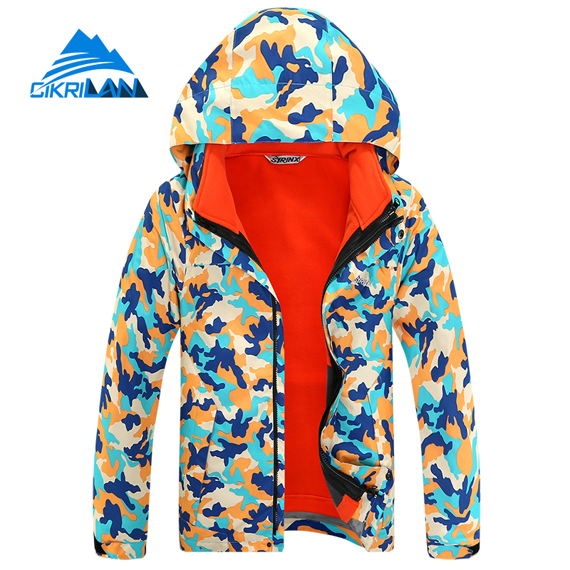 Hot Sale Trekking Hiking Casacos Boys Girls Skiing Outdoor Jacket Kids 3in1 Camping Climbing Camouflage Windstopper Child Coat hot sale europe size qs men s snowboards jacket 5000 5000 coat outdoor skiing sportwear hiking cycling mans clothing size m l