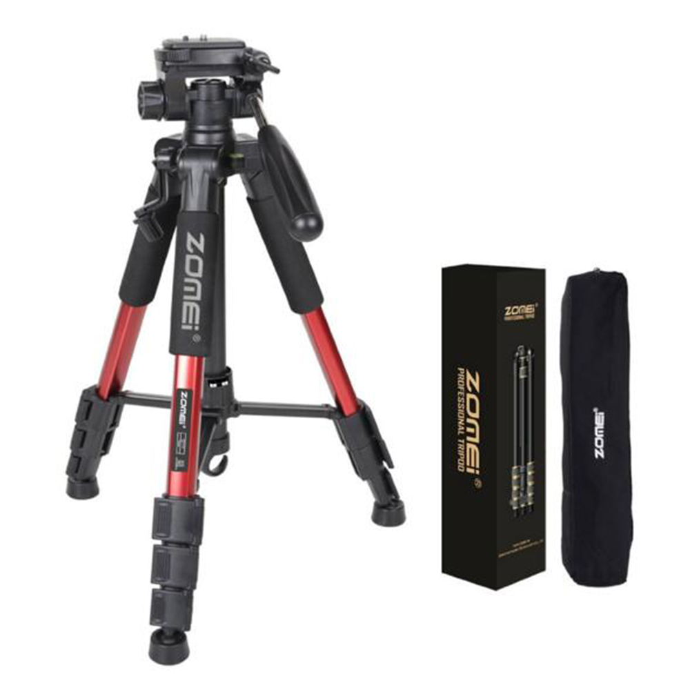 ZOMEI Q111 Professional Aluminium Camera Tripod Camcorder Stand with PanHead Plate for DSLR Canon Nikon Sony DV Video slr 55Inch wt3110a 40 inch aluminum tripod stand for camera dslr camcorder